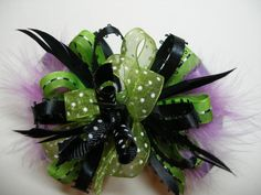 OOAK Fun Over the Top HALLOWEEN Hair Bow Funky by HareBizBows