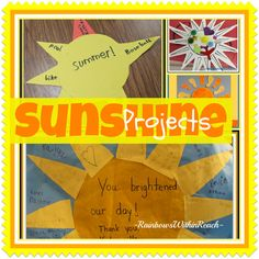 Sunshine Art Projects: collage of ideas for summer-time fun!! (da littles to da biggies)