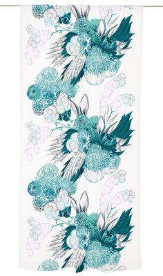 Vallila Interior pupulus Rideau 140 x 250 cm, Design Minna parikka, Rose My Sewing Room, Hanging Curtains, Linen Bedding, Bed Linen, Textile Design, Floral Tie, Rose, Digital Prints, Decoupage