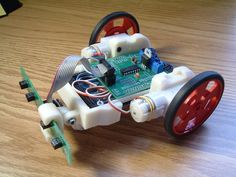 Chassis for Line Following Bot by vietor - Thingiverse