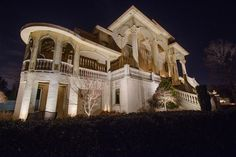 Landscape, residential & commercial lighting for over 20 years Facade Lighting, Commercial Lighting, Light Architecture, 20 Years, Curb Appeal, Outdoor Lighting, Nashville, Mansions, Landscape