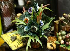 Miniature Creepy Potted Eyeball Plant by ArcanumMiniatures on Etsy, $36.85