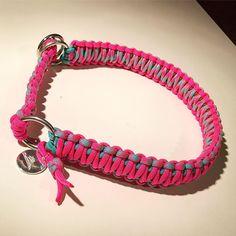 Ein knalliges Halsband in Pink mit Türkis und Braun ist auf dem Weg zu seiner neuen Besitzerin <3 www.flechtladen.de #halsband #hundehalsband #dog #doglove #madewithlove #pink #türkis #braun #logoanhänger #zugstopp #paracord #kingkobra #flechten #flechtladen