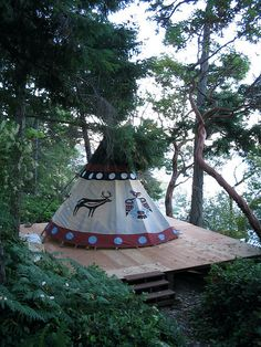 New Tipi and Tipi Platform by mcoughlin, via Flickr