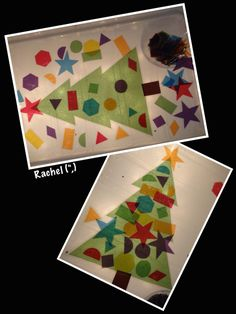 "Laminated cellophane shapes on the lightbox - from Rachel ("",) Christmas Math, Christmas Activities For Kids, Craft Activities For Kids, Winter Christmas, Christmas Lights, Christmas Crafts, Preschool Ideas, Christmas Trees, Craft Ideas"