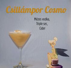 """Disney Inspired Cocktails """"Fairy Dust"""" Tinkerbelle Honey Vodka, Triple Sec, Cider Disney Cocktails, Cocktail Disney, Disney Alcoholic Drinks, Disney Dinner, Party Drinks, Cocktail Drinks, Fun Drinks, Yummy Drinks, Cider Cocktails"""