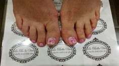 Barbie toes #barbienailart #decals #handpainted #shellacnails
