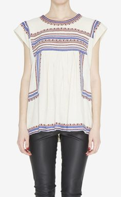 Isabel Marant Etoile Cream, Red And White Top