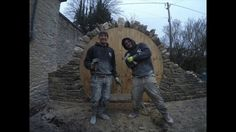 Time lapse of a dry stone moongate built in Wiltshire, England