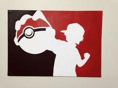 ORIGINAL Pokemon Pokeball Stencil Art Poster A3 by MadratStencils
