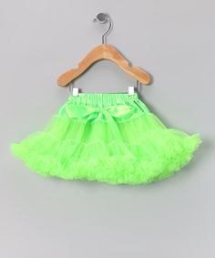This Lime Green Bow Pettiskirt - Infant, Toddler & Girls by Just For Girls is perfect! #zulilyfinds