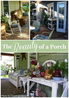 There is great beauty in a porch. Do you enjoy yours? Get porch ideas and inspiration here: http://www.front-porch-ideas-and-more.com/the-beauty-of-a-porch.html #porchdecor