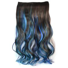 Noble Long Clip In Fashion Three Color Gradient Synthetic Fluffy Wavy Hair Extension For Women - OMBRE