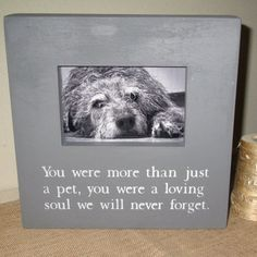 Pet Loss Pet Memory Pet Memorial Sympathy Gift Pet Frame Dog Cat Kitten Puppy Picture Frame Painted Wood Picture Photo Frame Pet Memory