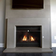 9 Authentic Simple Ideas: Concrete Fireplace Over Brick fireplace with tv above wall colors.Fireplace Hearth Art Nouveau non working fireplace candles. Fireplace Remodel, Concrete Fireplace, House, Living Room With Fireplace, Marble Fireplaces, Freestanding Fireplace, Farmhouse Fireplace, Fireplace, Diy Fireplace