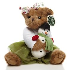 The Bearington Collection Handcrafted Felicity and Frostbite Bear at HSN.com.