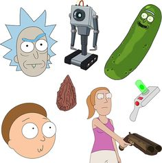 Pickle Rick Rick and Morty Stickers