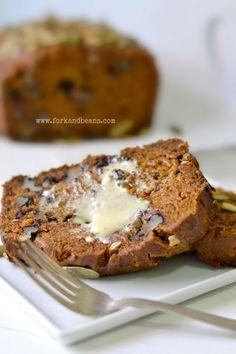 Gluten-Free Vegan Pumpkin Bread - Fork and Beans