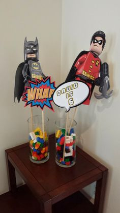 Hey, I found this really awesome Etsy listing at https://www.etsy.com/listing/198318876/lego-batman-and-robin-centerpieces