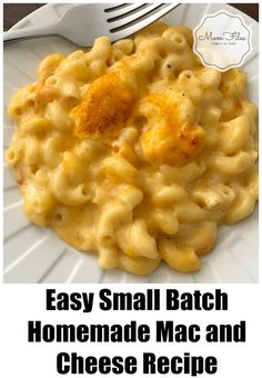 Easy Small Batch Homemade Mac and Cheese RecipeYou can find Mac and cheese recipe baked easy and more on our website.Easy Small Batch Homemade Mac and Cheese Recipe Homemade Mac And Cheese Recipe Baked, Best Mac N Cheese Recipe, Cheese Recipes, Cooking Recipes, Mac And Cheese Recipe For Two, Batch Cooking, Mac And Cheese Sauce, Making Mac And Cheese, Easy Mac And Cheese
