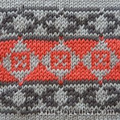 Norwegian Jacquard Pattern 1, knitting pattern chart, Jacquard Knitting Patterns