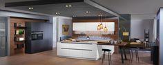 ewe50 Küche kombiniert aus schlichtem weiß und elegantem anthrazitgrau Küchen Design, Table, Furniture, Home Decor, Modern Kitchens, Medium, Stuff Stuff, Kitchen Modern, Interior Home Decoration