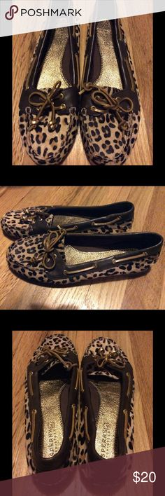NEW 💕 SPERRY Leopard Top Siders Size 7.5 Leopard SPERRY top Siders. Never worn. Size 7.5. SPERRY shoes are so comfortable. Super cute. Sperry Top-Sider Shoes Flats & Loafers