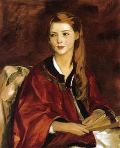 """""""Beatrice Whittaker,"""" Robert Henri, 1919, oil on canvas, 32 x 26"""", private collection."""