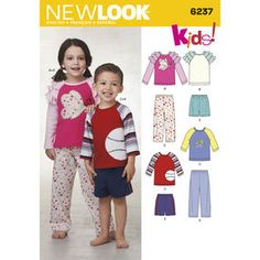 Find a pattern for Toddlers' & Child's Pants or Shorts and Top at Simplicity, plus many more unique patterns. New Look Patterns, Kids Patterns, Simplicity Sewing Patterns, New Look Kids, Boy Outfits, Long Sleeve Tees, Stripes, Kids Rugs, Pants