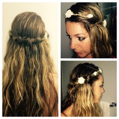 hair style for flower hippie headband hairstyles on headband 9146