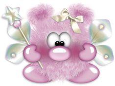 "Photo from album ""Пушистики"" on Yandex. Funny Monsters, Cartoon Monsters, Little Monsters, Smileys, Naughty Emoji, Cartoon Drawings Of Animals, Fuzzy Wuzzy, Cute Clipart, Cute Elephant"