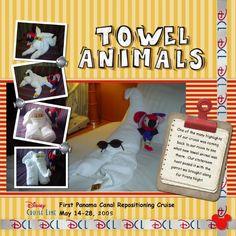DCL Towel Animals - MouseScrappers.com