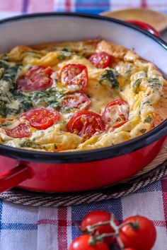 Tomato frittata with cheese