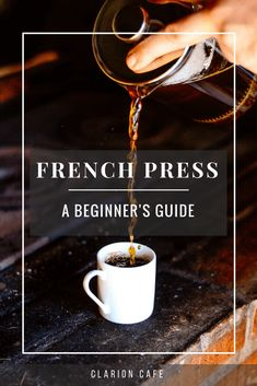 Are you a beginner to brewing coffee with a french press? The French press is an easy and inexpensive way to achieve a full flavored cup of coffee. This guide offers instructions on how to use and clean your french press. Coffee Uses, Great Coffee, How To Brew Coffee, Hot Coffee, Coffee Tasting, Coffee Drinks, Pause Café, Single Serve Coffee, Coffee Recipes