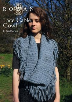 Knit this Lace Cable Cowl Accessory a free pattern part of the DC and Tutor competition designed by Sara Thornett using the luxury Creative Focus Worsted (wool and alpaca) with tassel detail, this knitting pattern is for the intermediate knitter.
