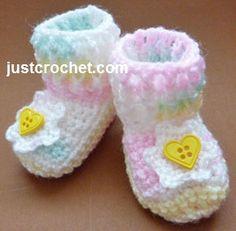 Crochet Ribbed Boots Pattern, http://crochetjewel.com/?p=15249
