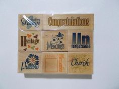 8 Sayings Rubber Stamp Lot Sentiments Special Occasions Cards New #Unbranded #Background