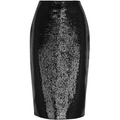 Diane Von Furstenberg Black Sequinned Pencil Skirt ($835) ❤ liked on Polyvore featuring skirts, sequin pencil skirt, sequin skirts, diane von furstenberg, pencil skirts and knee length pencil skirts