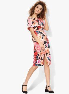 eca75eb17a59 Buy DOROTHY PERKINS Blush Floral Bardot Dress Online - 3232241 - Jabong