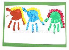 Handprint Dinosaurs  Parker will love this!