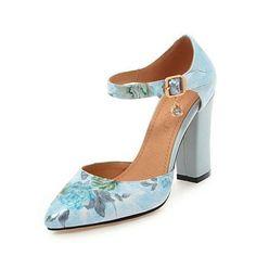 Lotte Floral Print Ankle Strap Pumps 553e0e336ee4
