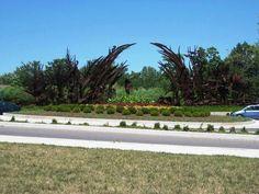 Sculpture/garden in Forest Park
