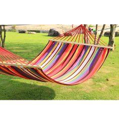 Adeco Hammock with Spreader Bar Tree Hanging Suspended Outdoor Indoor Bed Bermuda Color 118-inch