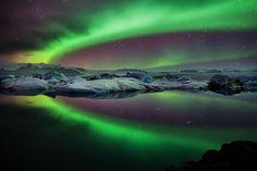 Big Green Eye Aurora, Iceland