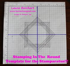 Check out this Template For The Stamparatus! You can create stamped images on the corners of your cardstock or in a circle for things like a wreath! Card Making Tips, Card Making Tutorials, Card Making Techniques, Video Tutorials, Stamping Tools, Rubber Stamping, Stampin Up Cards, 3d Cards, Cards Diy