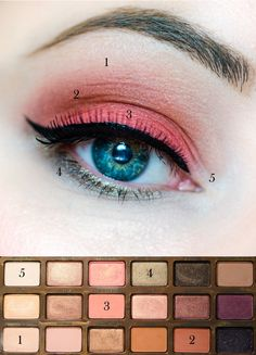 Too Faced Peach Palette eye look - Nail Lacquer UK