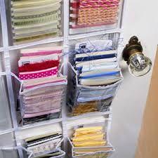 27 Ideas craft storage organization fabric scraps for 2019 Scrapbook Organization, Sewing Room Organization, Craft Room Storage, Fabric Storage, Paper Storage, Door Storage, Organization Ideas, Ribbon Storage, Organizing Crafts
