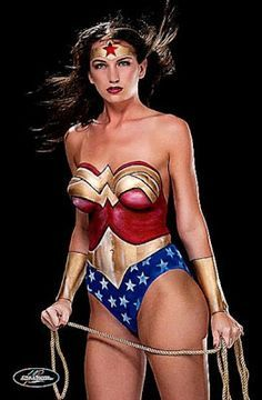 Wonder Woman body paint  Body art  Pinterest