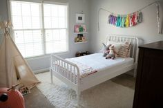 neutral palate with the wall color & furniture so that it can easily grow with the child.