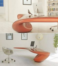 Futuristic Interior, Volna Table, Futuristic Office Tables, Futuristic Furniture, architectural studio Nuvist